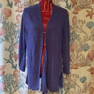 J.jill blue cardigan XL